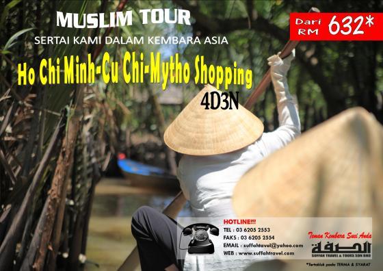 MUSLIM TOUR HO CHI MINH-CU CHI-MYTHO SHOPPING